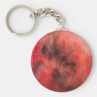 Mars Planet Watercolor Keychain
