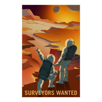 Mars Recruitment - Surveyors Wanted Poster