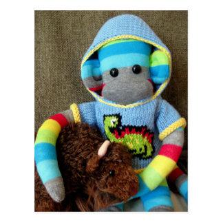 Mars Sock Monkey Post Card - Jed