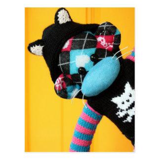 Mars Sock Monkey Post Card - Kit-Kat
