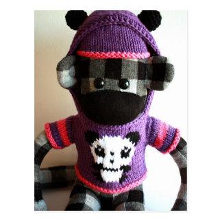 Mars Sock Monkey Post Card - Yuki