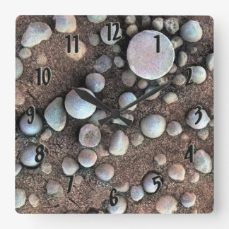 Mars Spherules Square Wall Clock
