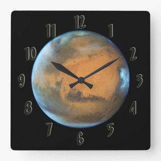 Mars Square Wall Clock