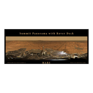 Mars Summit Panorama with Rover Deck Poster