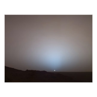 Mars Sunset from the Spirit at Gusev Crater Poster