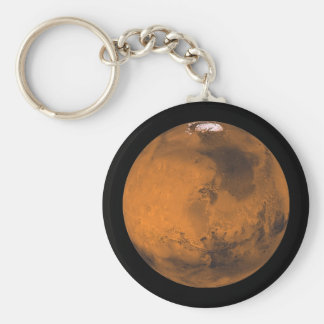 Mars the Red Planet in Outer Space Key Ring