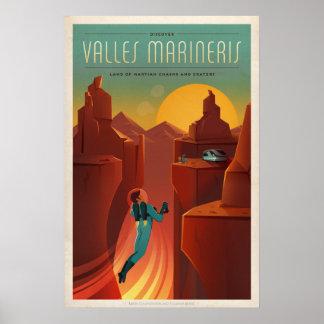 Mars Valles Marineris Tourism Poster