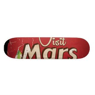 Mars Vintage Travel Poster Skateboard