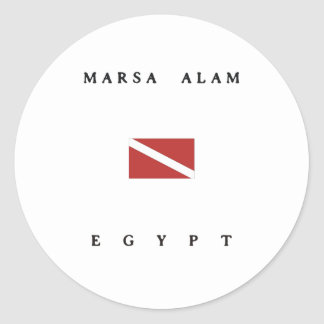 Marsa Alam Egypt Scuba Dive Flag Classic Round Sticker