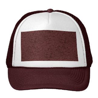 Marsala Cork Look Wood Grain Mesh Hat
