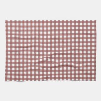 Marsala Gingham Pattern Towel