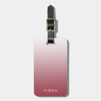 Marsala Gradient Ombre Personalized Luggage Tag