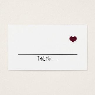 Marsala Heart Wedding Placecards Business Card
