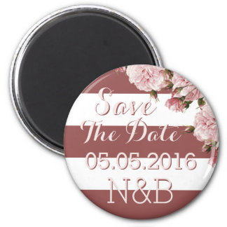 Marsala roses Save The Date magnets 2 Inch Round Magnet
