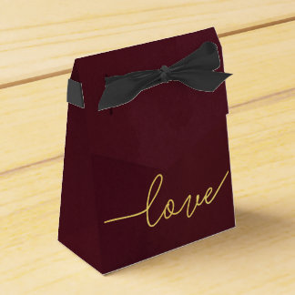 Marsala Wedding Favor Box, Wine Colored Favour Box