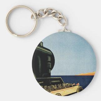 Marseille ~ Cote D'Azur Basic Round Button Key Ring