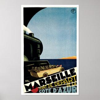 Marseille ~ Cote D'Azur Poster