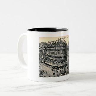 Marseille, France, Rue de la Republique, Vintage Two-Tone Coffee Mug