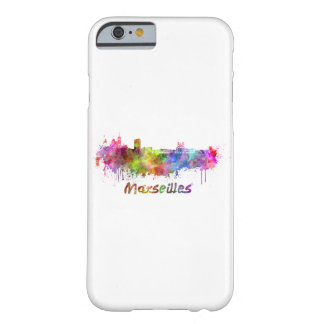 Marseille skyline in watercolor barely there iPhone 6 case