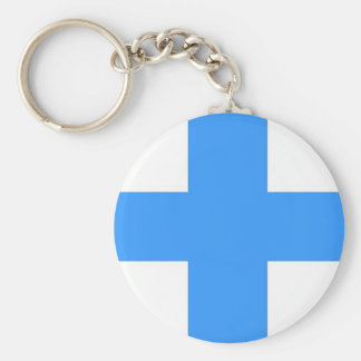 marseille town city flag france country basic round button key ring