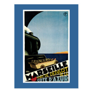 Marseille Vintage French Travel Poster Postcard