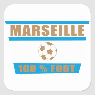 Marseilles football square sticker