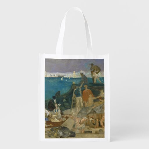 Marseilles, Gateway to the Orient by Puvis Reusable Grocery Bag