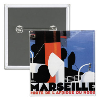 Marseilles Poster 15 Cm Square Badge