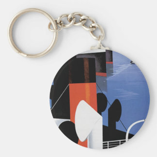 Marseilles Poster Basic Round Button Key Ring