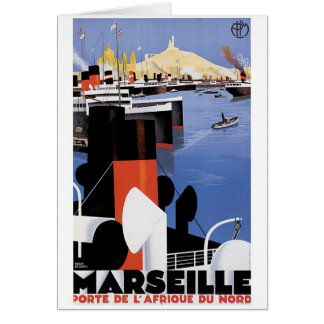 Marseilles Poster Greeting Card