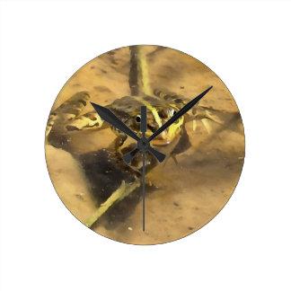 Marsh Frog Round Clock