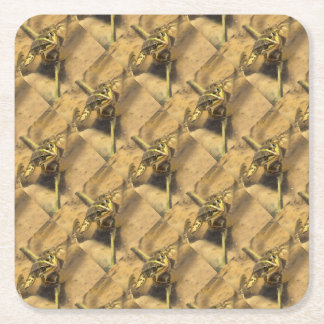 Marsh Frog Square Paper Coaster