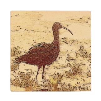 Marsh Ibis Wooden Coaster