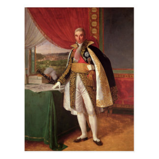 Marshal Andre Massena  Duke of Rivoli, 1814 Postcard