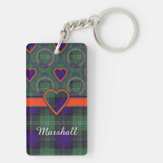 Marshall clan Plaid Scottish kilt tartan Key Ring