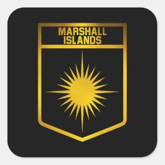 Marshall Islands Emblem Square Sticker