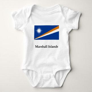 Marshall Islands Flag And Name Baby Bodysuit