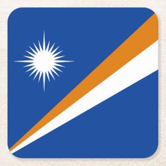 Marshall Islands Flag Square Paper Coaster