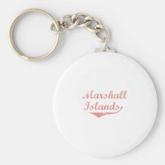 Marshall Islands Revolution Style Basic Round Button Key Ring