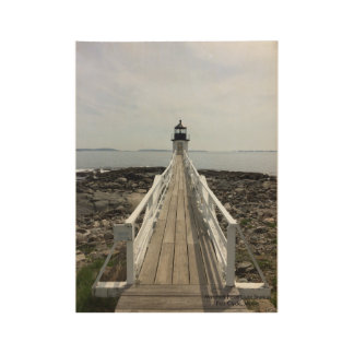 Marshall Point Light Station , Port Clyde ,Maine Wood Poster