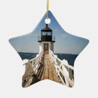 Marshall Point Lighthouse Ceramic Ornament