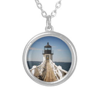 Marshall Point Lighthouse Silver Plated Necklace