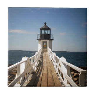 Marshall Point Lighthouse Small Square Tile