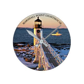 Marshall PointLighthouse Maine Wall  Clock