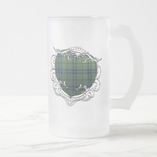 Marshall Tartan Heart Frosted Glass Beer Mug