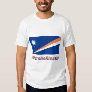 Marshallinseln Flagge mit Namen Tee Shirt