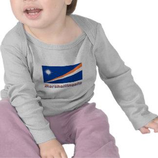 Marshallinseln Flagge mit Namen T-shirts