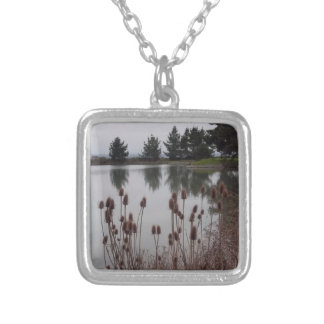 Marshlands of Arcata, CA Silver Plated Necklace
