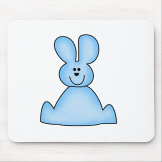 Marshmallow Bunny blue Tshirts and Gifts Mouse Pad