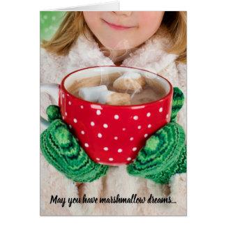 Marshmallow Dreams & Hot Chocolate Christmas Card